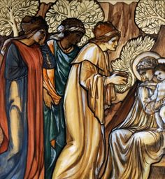 Edward Coley Burne-Jones Adoration of the Magi design for stained glass (1872)