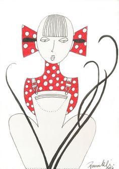 Hillbilly Girl © 2006 Pumukli by Tatiana Goldmannova Hillbilly, Playing Cards, Cards, Game Cards, Playing Card
