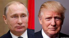 Russian President Vladimir Putin (left) thanked U.S. President Donald Trump in a December 17 telephone call.