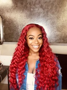 Red Wigs Lace Frontal Wigs Purple Human Hair Wig Red Curly Bob Wig Ginger Hair With Highlights Dark Green Wig With Bangs Ombre Lace Wig Dark Brown Hair Dye, Grey Hair Dye, Ombre Hair, Human Hair Lace Wigs, Remy Human Hair, Auburn, Wine Red Hair, Hair Colorful, Curly Bob Wigs