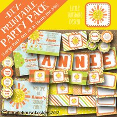 LARGE DIY PRINTABLE Party Pack Little by bunglehousedesigns, $40.00