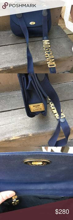 Small Moschino navy handbag 100 % authentic  small moschino handbag Moschino Bags Crossbody Bags