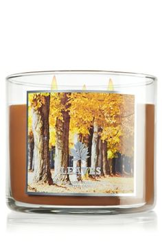 Warm & cozy fall fragrances are back  at  Bath & Body Works- Leaves is my favorite! 14.5 oz. 3-Wick Candle - Slatkin & Co.