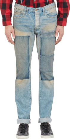 Patchwork Jeans - LT. BLUE $495 #DenimDaze #ClosetFreaks