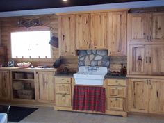 Rustic Hickory Cabinets - Really love these! The more knots, the better!