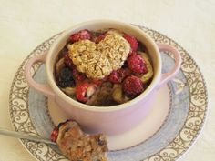 Sweetie Pie Baked Oatmeal (Raspberry and Banana)