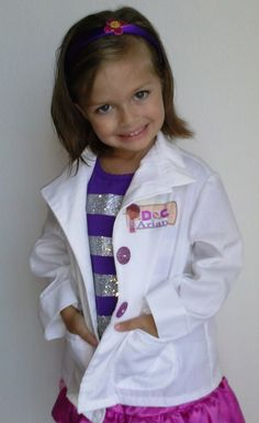 Doc McStuffins Costume Doctor's coat ONLY by HandmadebyCatira, $24.99