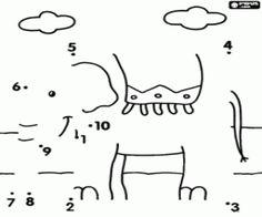 Sluit de puntjes om te ontdekken een grote terrestrische dier in deze tekening kleurplaat
