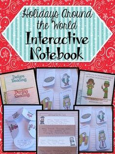 Holidays Around the World Interactive Notebook - Ashleigh's Education Journey.  Make the holidays season full of FUN and LEARNING!  Incorporate reading standards while teaching students about holidays around the world with these interactive notebook activities!