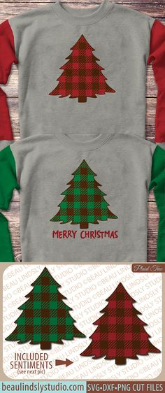 Christmas Tree SVG, Christmas Clip Art, Plaid SVG, Christmas SVG File For Silhouette Pattern, Holiday svg File For Cricut Projects, Christmas Tree Clip Art, DXF File, PNG Image File. This is a stylized version of our Plaid Christmas Tree. It could be used all winter long, or add one of the 4 sentiments and make a wonderful holiday gift! It would be perfect for as Cabin Christmas Decor, Vinyl Projects from HTV to Christmas Signs. www.beaulindslystudio.com