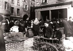 Boys selling produce in the Greenmarket in Dundee, 1892.  (from http://www.leisureandculturedundee.com/library/circa )