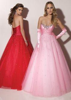 Glimmering Beading Floor-Length Prom/Ball Gown Dress