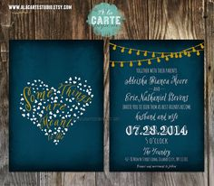 Oh my, I love this one so much and it's in our colors... I am just so damn unfamiliar with etsy... I hope I can figure out how to navigate it so I can get one of the many amazing invites on there!