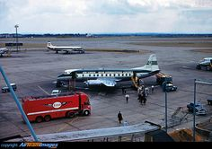 Vickers 808 Viscount  london heathrow september 1960 Vintage Airline, Viscount, Aircraft Pictures, Picture Photo, Planes, United Kingdom, Aviation, September, London