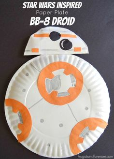 Star Wars Inspired Paper Plate BB-8 Droid