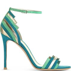 Gianvito Rossi leather-and-suede sandal