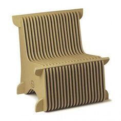 creatively designed cardboard chair