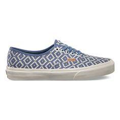 b2c5e0167fe Vans Authentic CA Italian Weave   Captain Blue Cute Vans