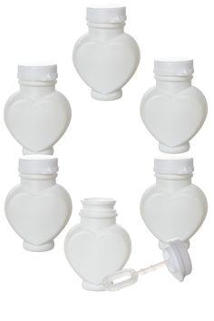 6 flacons coeurs à bulles de savons - Tati