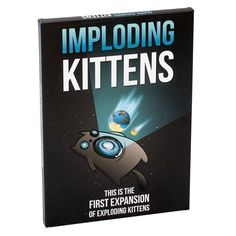 Buy Imploding Kittens (Exploding Kittens Expansion) at Mighty Ape NZ. This is the first expansion pack of Exploding Kittens. Includes 20 new cards illustrated by The Oatmeal. Expands the core deck from 5 to 6 player. Family Party Games, Kids Party Games, Games For Kids, Games To Play, The Oatmeal, Exploding Kittens Card Game, Kitten Party, Russian Roulette, Kitten Toys