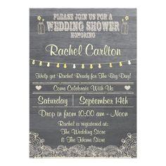 #Rustic #Mason #Jar #Wedding #Shower #Invitation by #aaronsgraphics on #zazzle