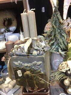Christmas Advent Wreath, Christmas 2016, Vintage Lace, Wreaths, Table Decorations, Box, Design, Home Decor, Christmas Decorations