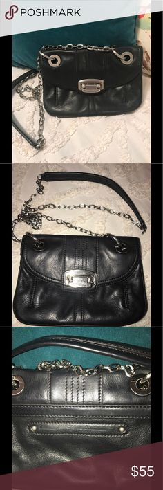 "B.MAKOWSKY CROSSBODY PURSE. BLACK. 🖤🖤 B.MAKOWSKY CROSSBODY PURSE. BLACK. 🖤🖤. BEAUTIFUL SILVER ACCENTS. INSIDE ZIP POCKET. 3 ADDITIONAL SECTIONS. LOTS OF STORAGE FOR A SMALL BAG. 23"" STRAP DROP. 9x6 b. makowsky Bags Crossbody Bags"