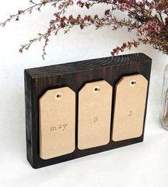 Reclaimed Wood Perpetual Calendar