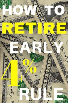 How Much Money Do You Need To Retire Early? Does the rule hold up to extreme early retirement? Find out how the rule can work for you. Retirement Advice, Retirement Cards, Saving For Retirement, Early Retirement, Retirement Planning, Retirement Strategies, Retirement Decorations, Retirement Savings, Ways To Save Money