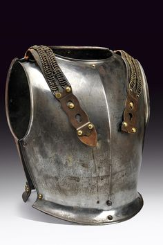 A cuirassier's breast- and back-plate, France ca, 1870.