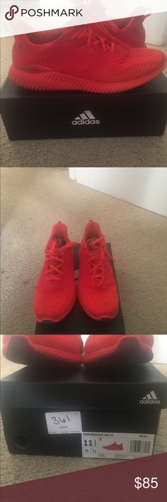 Addidas alphabounce em red October Size 11 and half with box and receipt adidas Shoes Sneakers