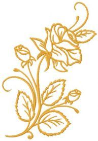 Rose free machine embroidery design. Machine embroidery design. www.embroideres.com