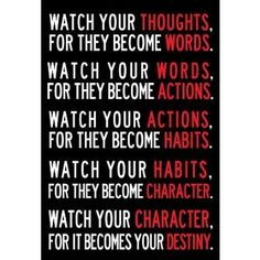 Amazon.com: (13x19) Watch Your Thoughts Motivational Poster: Home & Kitchen