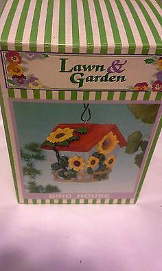 Adorable Tiny Bird House Perfect For Patio/sun Room Decoration-Sunflowers (New)