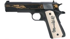 Springfield Armory PB9108LPCS 1911-A1 Battlefield Cross Limited Edition 1 of 500 by Custom Editions - $980.32 (Free S/H on Firearms)   Slickguns   gun.deals Springfield Armory 1911, Battlefield One, Military Branches, Pro Gun, 45 Acp, Usmc, Armed Forces, Firearms, Hand Guns