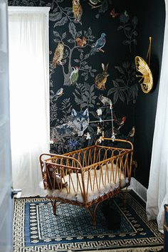 A Different Take On A Nursery | via Camille Styles