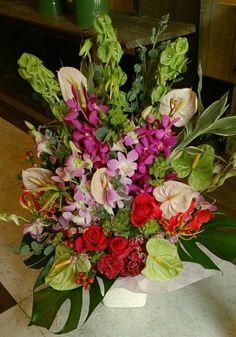花ギフトのプレゼント【BFM】  優しい南国 そんなフラワーアレンジメント http://www.basketflowermarkets.com