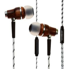 Symphonized NRG Premium Genuine Wood in-Ear Noise-isolating Headphones with Mic and Nylon Cable (Red) Best Cheap Earbuds, Headphone With Mic, Good And Cheap, Wine Rack, Headphones, Cable, Wood, Bear, Cabo