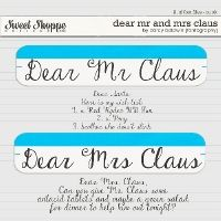 DJB Fonts: Dear Mr and Mrs Claus by Darcy Baldwin