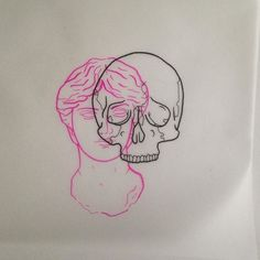 Available design. Space available for small flash. 1:30 Thursday 6th. DM/Email to book. #statue #bust #pink #skull #overlap #illustration #drawing #tattoo #flash #tattooflash #tattooart #tattoodesign #tattooillustration #crucibletattooco