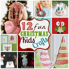 12 Christmas Kids' Crafts and creations Ideas Christmas Crafts For Kids, Christmas Activities, Christmas Printables, Christmas Projects, Winter Christmas, Holiday Crafts, Holiday Fun, Christmas Holidays, Christmas Decorations