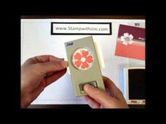 Scrapbook tutorial or video tips for the new Pansy Punch and Flower Shop stamp set