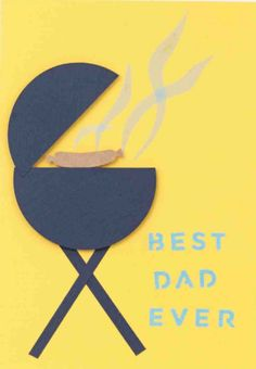 Best Dad Ever BBQ Father's Day Card #marthastewartcrafts Fathers Day Ideas For Husband, Happy Fathers Day, Daddy Day, Holiday Crafts For Kids, Kindergarten Crafts, Father's Day Diy, Presents For Men, Fathers Day Crafts, Holidays With Kids
