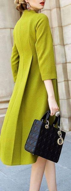 Dior - Love the color of this coat!                                                                                                                                                     More