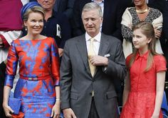 Queen Mathilde, King Philippe and Crown Princess Elisabeth attended the Kroningsfeesten in Tongeren
