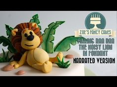 Making Raa Raa the noisy lion in fondant icing figure decoration How To Tutorial Zoes Fancy Cakes - YouTube