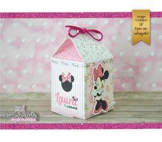 Caixa Milk Minnie Rosa | Atelie Papel de Festa | Elo7