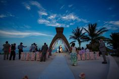 Lila + Shahin's glam wedding on the shores of Dreams Riviera Cancun, Mexico is one for the books.