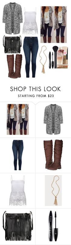 """Style Steal! and yes I used a pre-made makeup set"" by johanna4475 ❤ liked on Polyvore featuring Eloquii, J Brand, XOXO, English Factory, Bebe, Karen Millen and Lancôme"