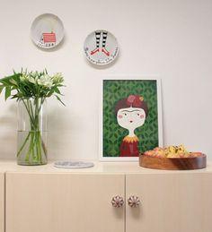 Decoração com pratos na parede!